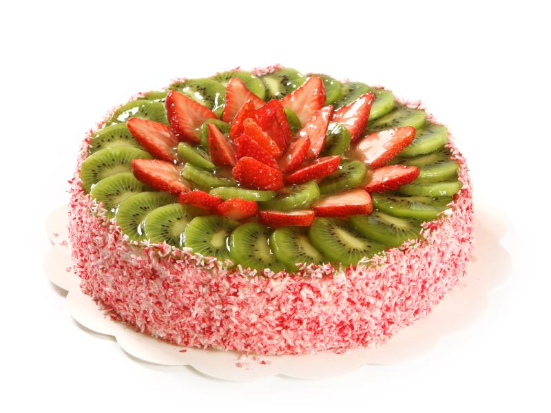 Cake decorating with fruit slideshow for Decoration fruit