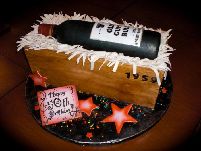 50th Birthday Wine Bottle Cake Ideas