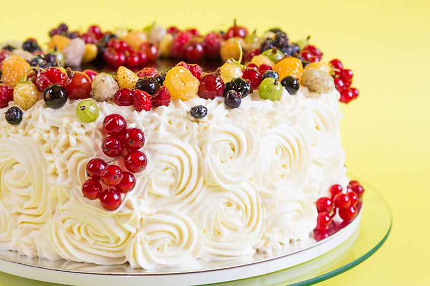 Birthday Cake Ideas With Fruit Image Inspiration of Cake and