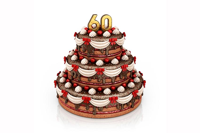 Cake Design 60th Birthday : 60th Birthday Cake Ideas [Slideshow]