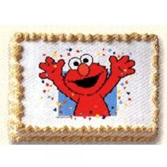 Loves Elmo So This Cake Is A Winner It's Made With Red Velvet Cake ...