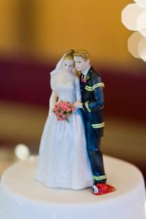 Firefighter wedding cake topper
