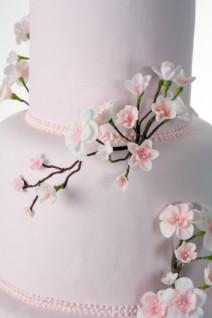 Cake with blossoms