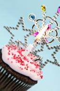 Cupcake with princess decorations