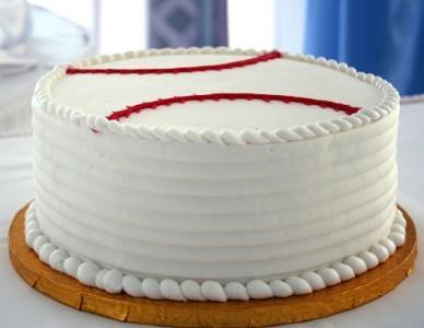 Round Cake Design Ideas : Baseball Cake Designs