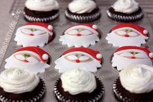 Chocolate Santa cupcakes