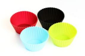 Four silicone cupcake holders
