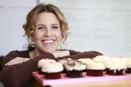 Candace Nelson with cupcakes