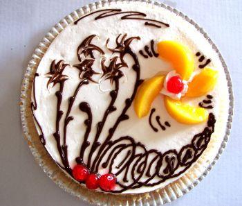 An intricately decorated cake
