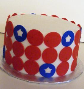 Patriotic Circle Cake