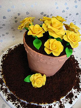 Dirt Cake With Flowers If you're making a dirt cake