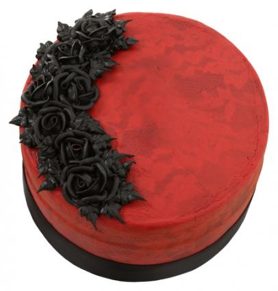 red velvet goth cake photoeuphoria dreamstimecom