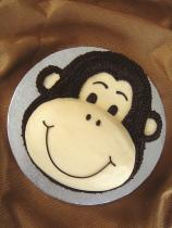 Monkey birthday cake lovetoknow for Monkey birthday cake template