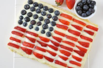 Berry Flag Cake