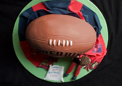 Cake Decorations Football Nets : How to Make a Football Cake