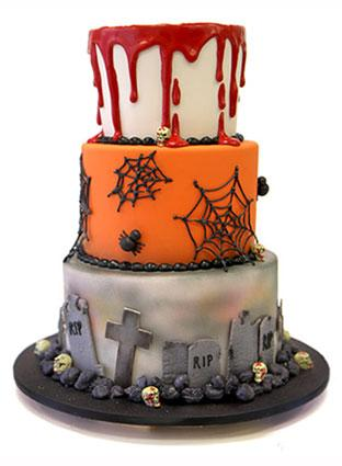 three tier graveyard cake