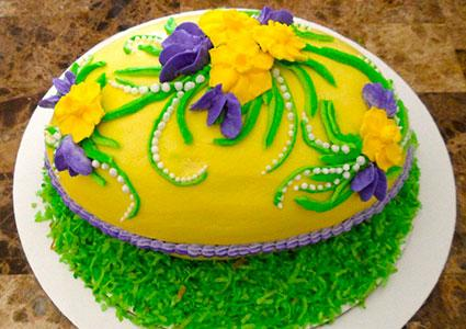 Cake Decorated With Easter Eggs : Easter Egg Cake