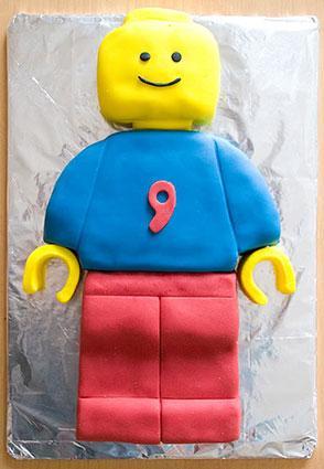 Legoman birthday cake