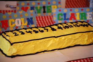 Ruler Cake