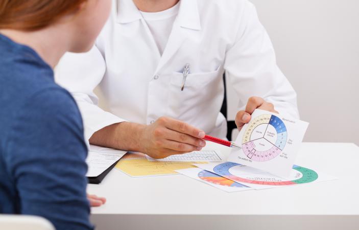 OBGYN explaining menstrual cycle