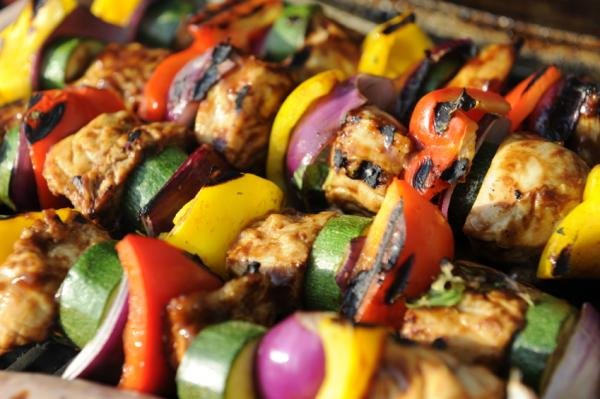 how to cook vegetable kebabs on the bbq