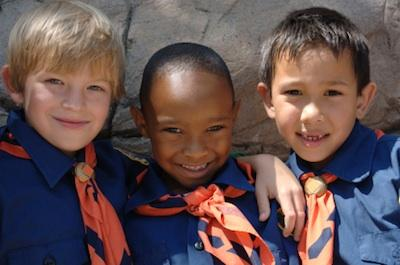 Cub scouts in uniform