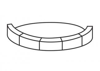 Stack blocks lengthwise around the circle