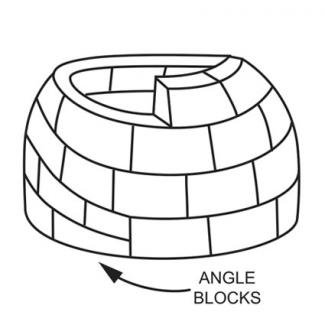 Angle first few blocks