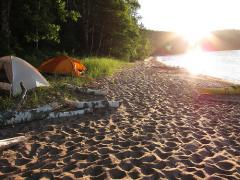 Oak Island campsite