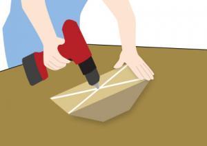 RV chock 6 Cut Drill step 4