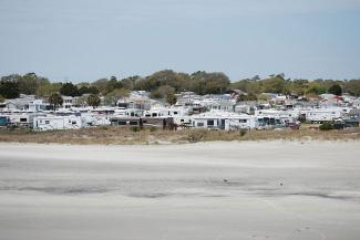 View of Apache campground from the pier
