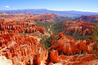 Hoodoo landscape of Bryce Canyon National Park