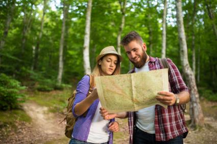 Selecting campsite location