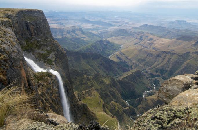 Tugela Falls on the Amphitheatre in the Drakensberg.