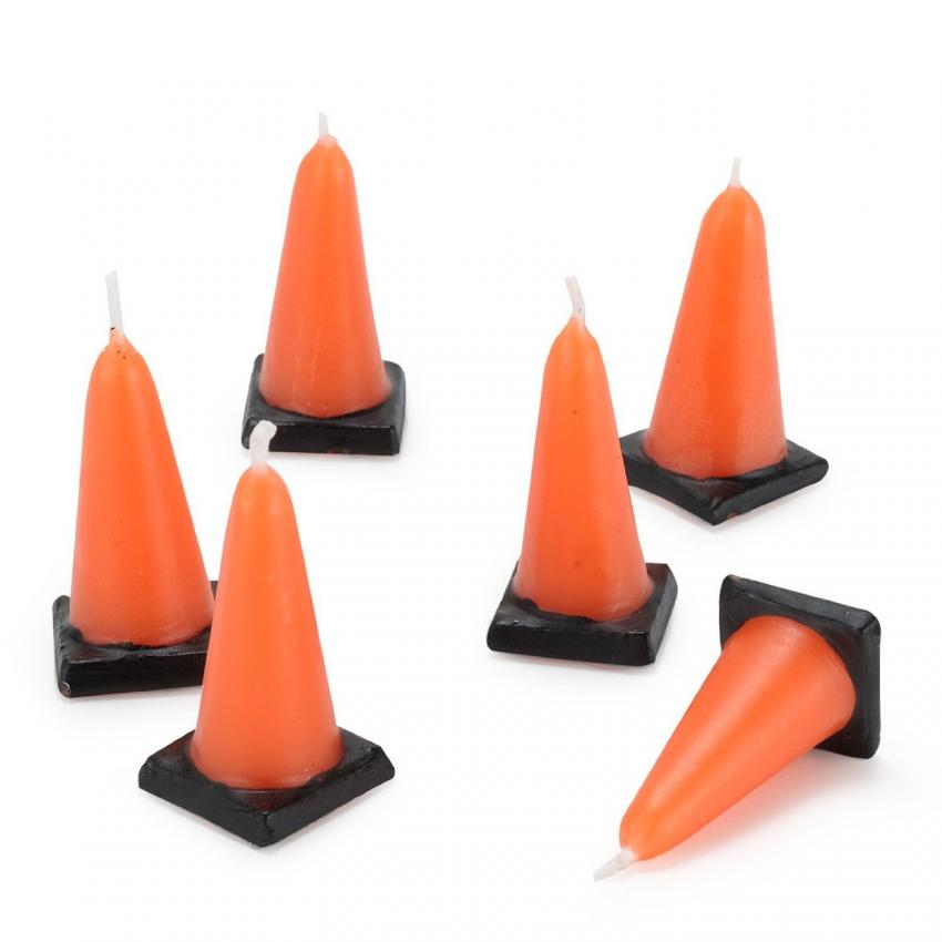 Traffic Cone Cake Candles