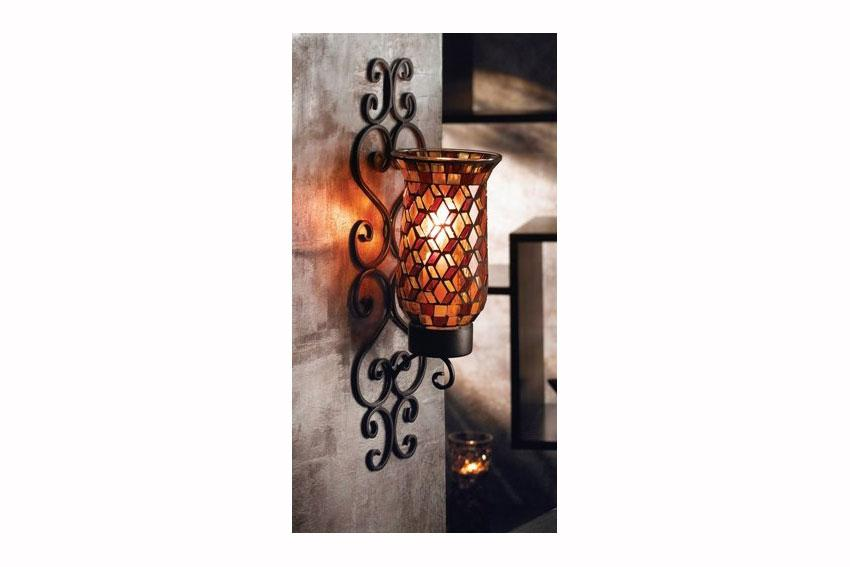Mosaic Glass Candle Wall Sconces : Glass Mosaic Candle Holder [Slideshow]