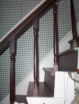 Staircase with balusters