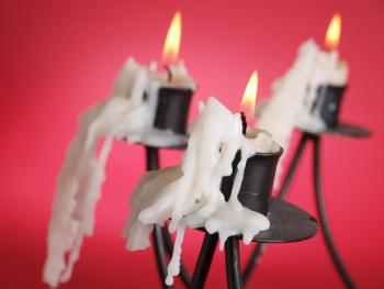 Melting drippy candles