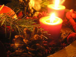 Christmas votive candles bring a festive spirit.