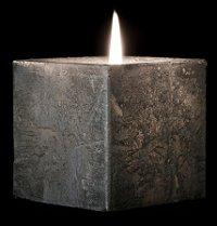 Square Silver Pillar Candle
