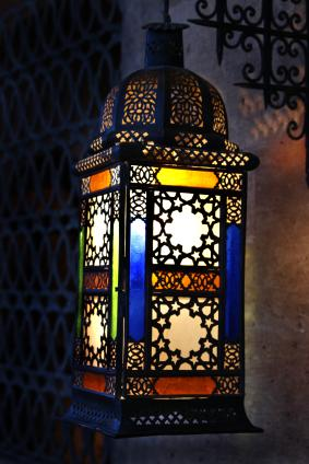 colorful outdoor lantern