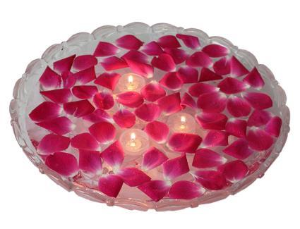 Gel candles make beautiful centerpieces.