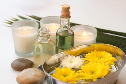 soy candles with essential oils