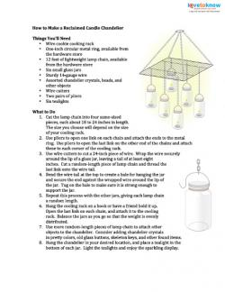 candle chandelier instructions