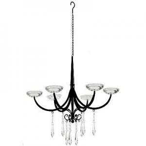 Large Metal Lead Crystal Candle Chandelier at Amazon.com