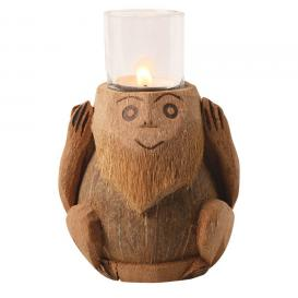One of Three Wise Monkeys Candle Holder set at Amazon.com