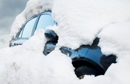 car with snow