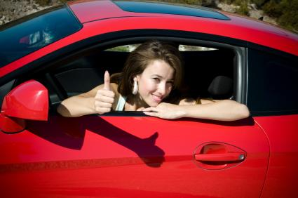 thumbs up in car