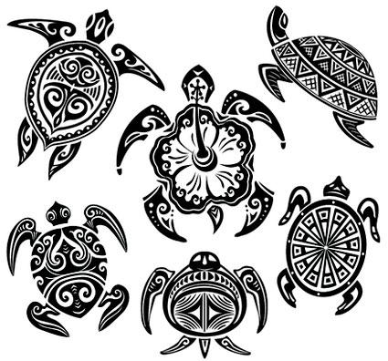 Hawaiian Turtle Car Stickers