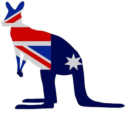 Kangaroo Car Stickers Australia